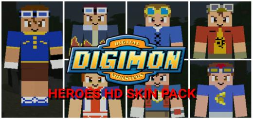 Digimon Heroes HD Skin Pack