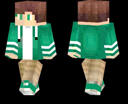 Green Boy With Hoodie | Minecraft PE Skins