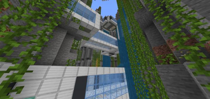 Underground Ravine Base End Base Minecraft Pe Maps