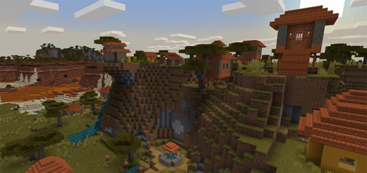 3 Villages and a Large Variety of Biomes! (Seed)