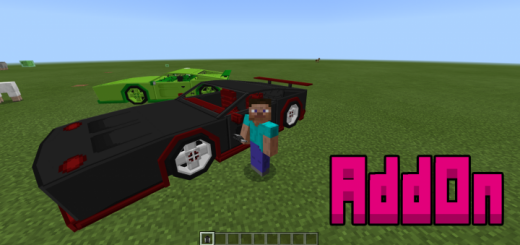 Minecraft Style: Aston Martin Car Addon