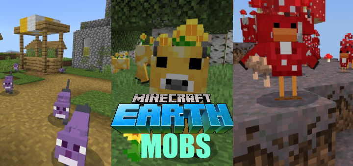 Mobs From Minecraft Earth Resource Pack | Minecraft PE