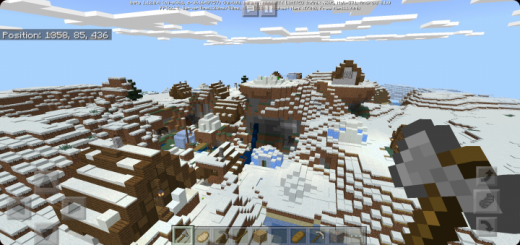 Ice Village Valley and Massive Cave Underneath (Seed)