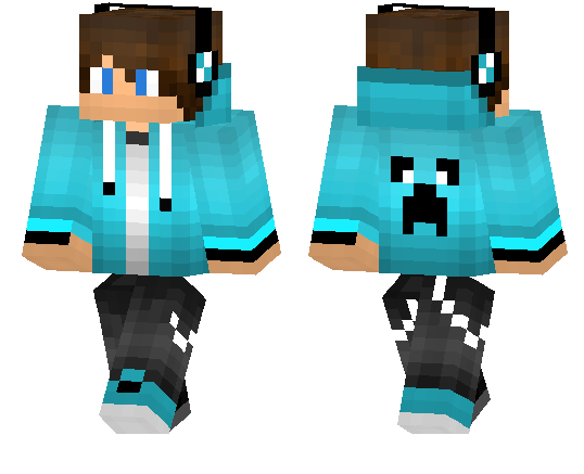 Light Blue Hoodie Boy Minecraft Pe Skins