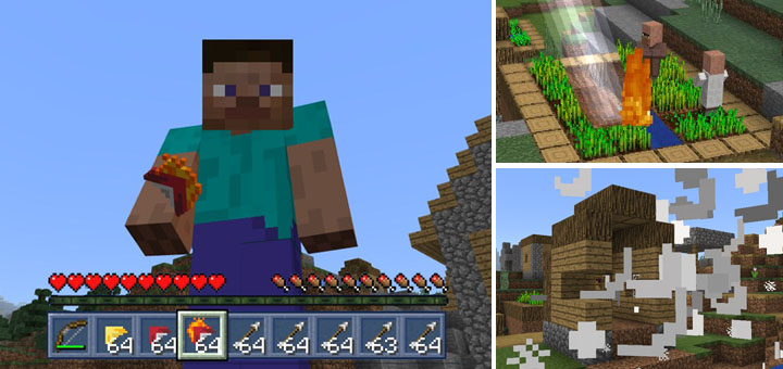 """Mo'Arrows Addon """"Now Custom items! & Supports 1 12!""""   Minecraft PE"""