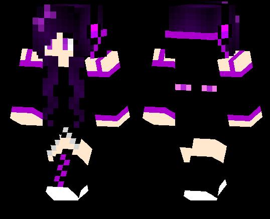 Enderman Girl Minecraft Pe Skins