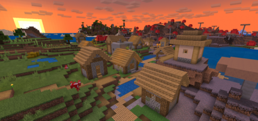 Spawn Next to a Blacksmith Village/Mushroom/Shatter Savanna Combo! Seed