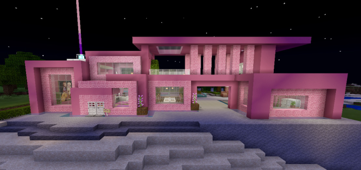 Pink Mansion Minecraft Pe Maps