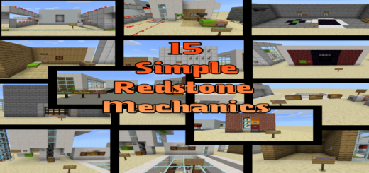 15 Simple Redstone Mechanics