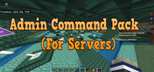 Admin Command Pack (For Servers)