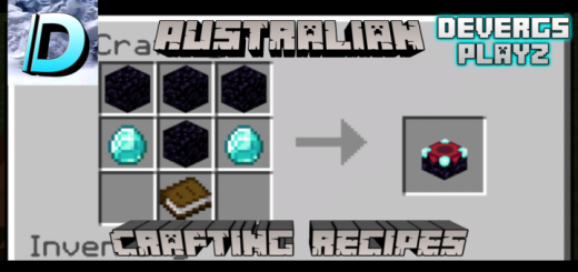 Australian Crafting Recipes Addon