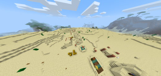 2 Villages And Sand Temple Behind Spawn! (Seed)