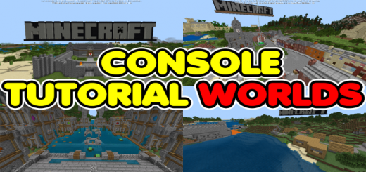 All Minecraft Console Tutorial Worlds Pack