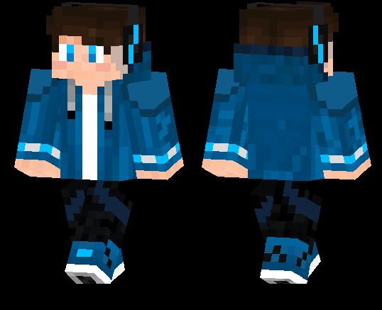 Boy With Blue Hoodie Minecraft Pe Skins