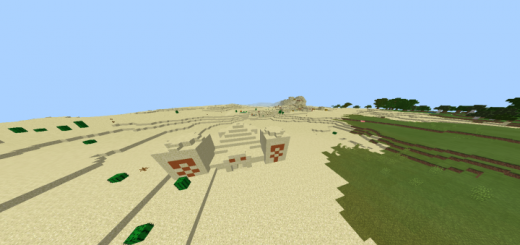 Desert Temple And Sand Village Ahead Of Spawn (Seed)