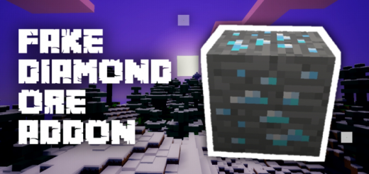 Fake Diamond Ore Addon