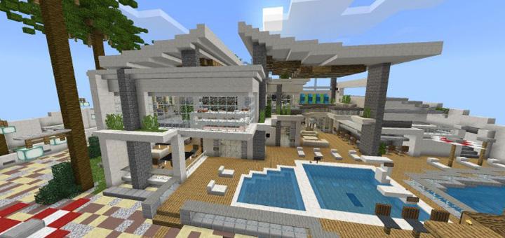 Modern Redstone Mansion Creation Redstone Minecraft Pe Maps