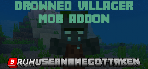 Drowned Villager – Mob Addon (BETA 1.16.0.63)