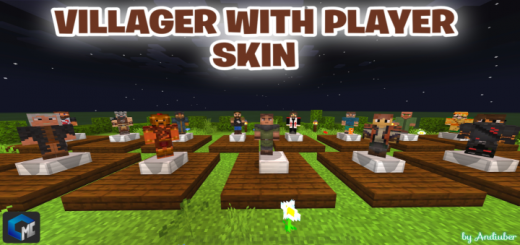 Villagers With Player Skin (Addon)