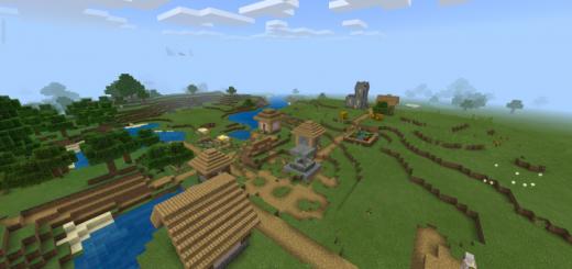 Village, Pyramid, Badland Savannah, Mesa and Flat Lands Nearby!