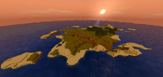 Large Survival Island with Ravine (Seed)