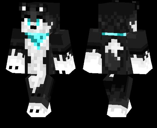Black and White Cat | Minecraft PE Skins