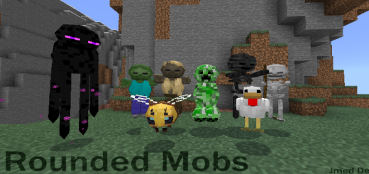 Rounded Mobs (Cursed) (Texture Pack)