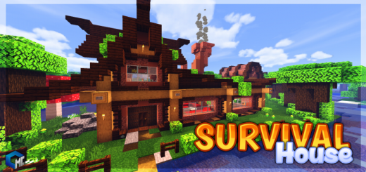 Survival House Dark Oak Forest (Map/Building)