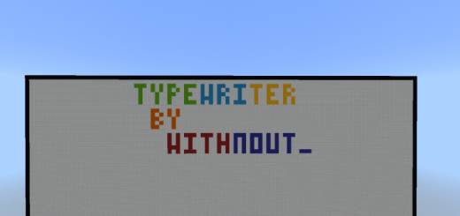 Typewriter in Minecraft