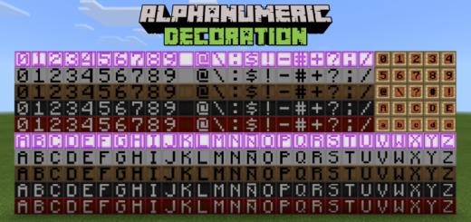 Alphanumeric Decoration