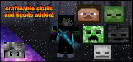 Crafteable Skulls and Heads Addon