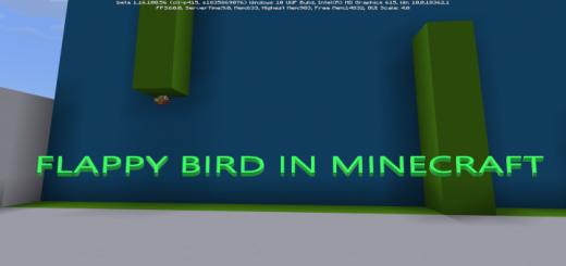 Flappy Bird in Minecraft