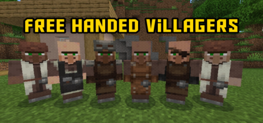 Free Handed Villagers and Illagers (Skin Color Update)