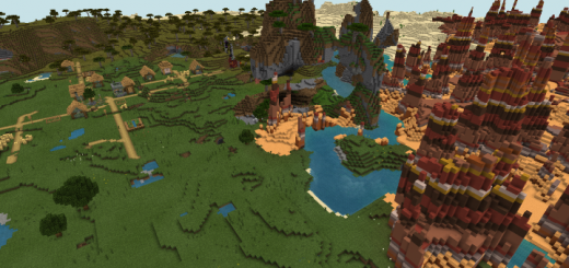 Mesa Spikes and 2 Villages (Seed)
