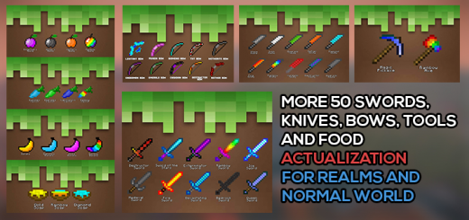 More (+50) Sword, Bows, Knives, Food and Tools (Actualization)