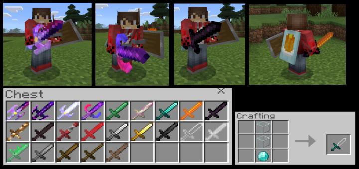 More Swords Addon   Minecraft PE Mods & Addons