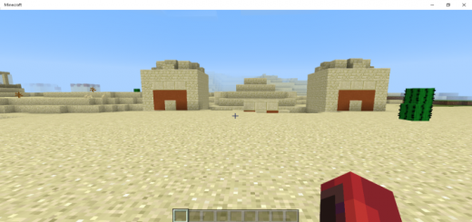 Sand Temple and Village at Spawn