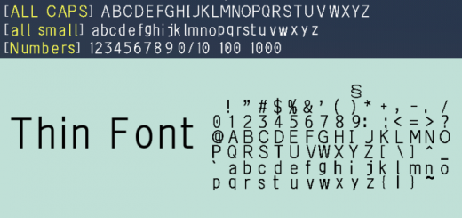 Thin Font Texture Pack