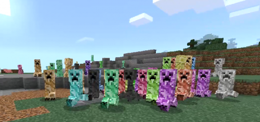 Colored Creepers Texture Pack