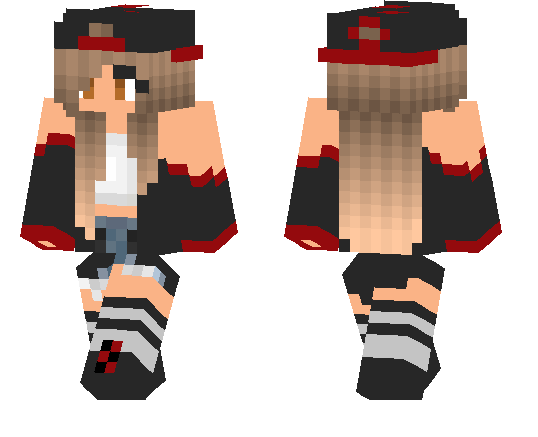 Red and Black Tomboy Skin