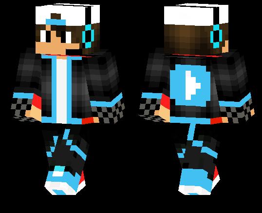 Blue Youtuber Skin