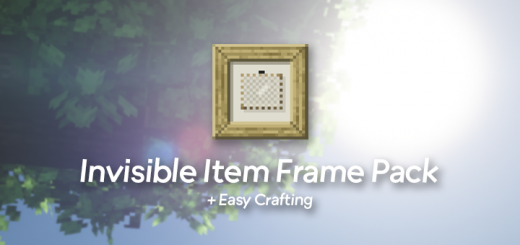 Easy/Invisible Item Frame Pack