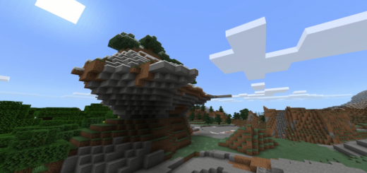 Erosion Rock Features Near Spawn (Seed)