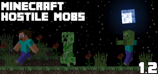 Minecraft Hostile Mobs 1.2 (Skin Pack)