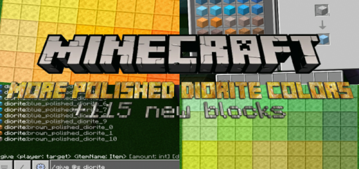 More Polished Diorite Colors (+115 New Blocks)