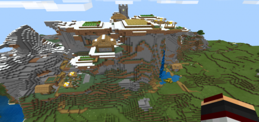 Seed With Big Village On A Mountain