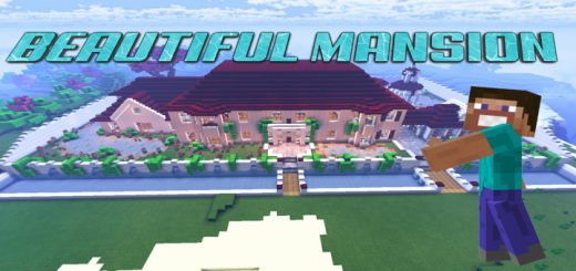 Beautiful Mansion (Mansion with Commands) (1.16.101+)