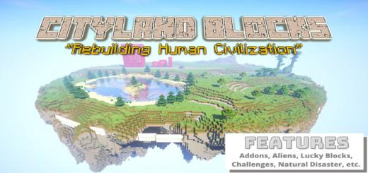Cityland Blocks (Survival Challenges) [Addon, World, Etc]