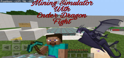 Mining Simulator With Ender Dragon Fight